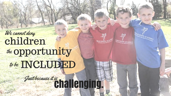 Just because inclusion is challenging